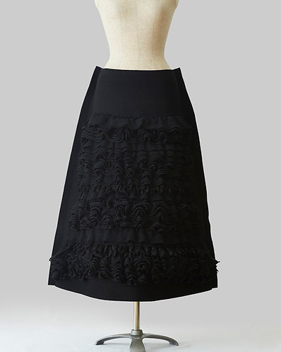 Frilled Skirt Black