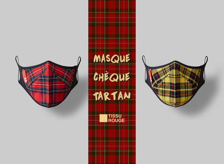Masque Chèque Tartan New Color!!!