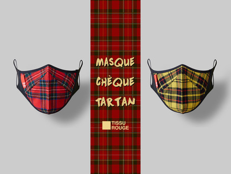 Masque Chèque Tartan New Color!!!