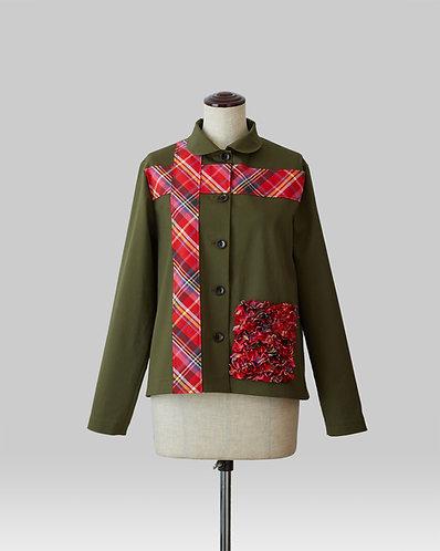 Cross Line Jacket Khaki