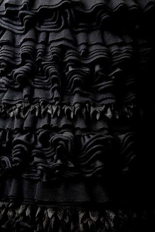 Frilled Skirt Black