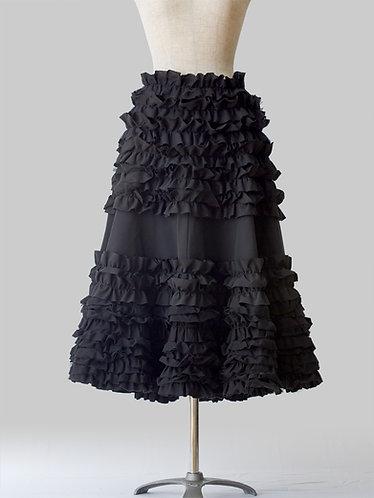 Frilled Skirt 2 Black