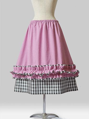 Layered Check Skirt B