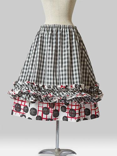 Layered Check Skirt C