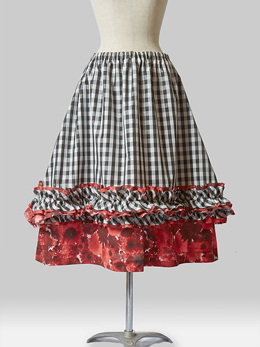 Layered Check Skirt A