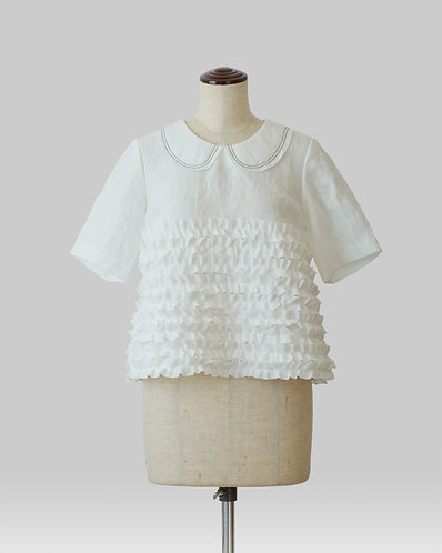 New Frilled Blouse White