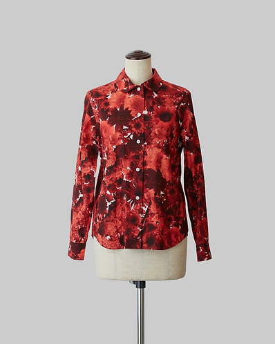 Bloom Print Shirt Red