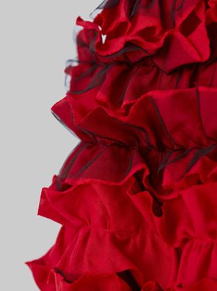 Frilled Skirt 2 Red