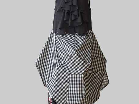 Gingham Check 3D Dress