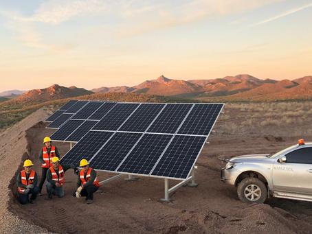 Sistema solar de 13kwp en sector minero con tecnología litio