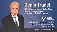 Carte d'affaires Denis Trudel sans décou