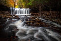 Autumn at Oneida Falls in Ricketts Glen State Park, Pennsylvania
