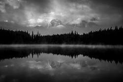 black and white reflection lake dan ball