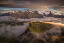 arial photography iceland