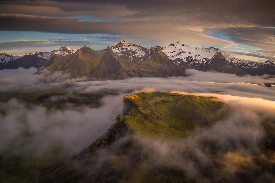 arial landscape photography of iceland