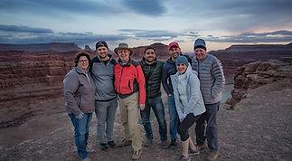 Photography Workshop Group huddled together in Moab, Utah