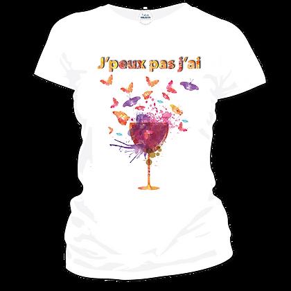 T shirt j'peux pas j'ai cocktail rosé pas cher - version 2