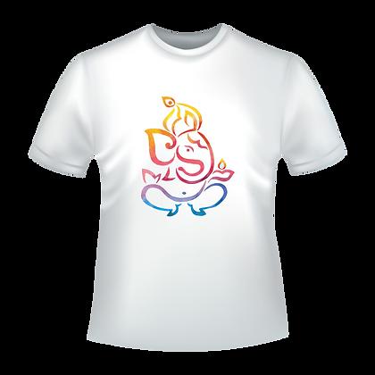 Vetement imprimé style indou : Ganesh tracés multicolors
