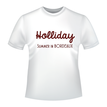Textiles aux choix marqués à partir de 9,99€, t-shirts,polos, chemise, imprimés avec le texte de votre choix