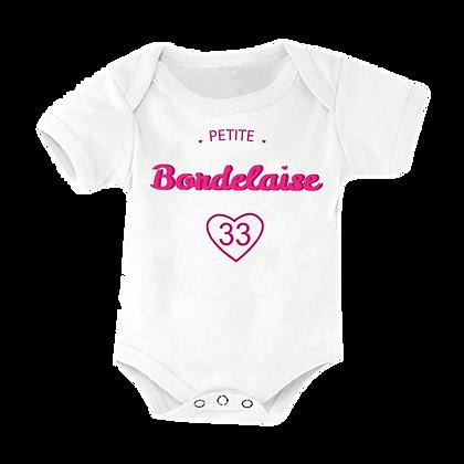 """Body bébé imprimé """"Petite Bordelaise 33""""pas cher vetement marqué humour"""