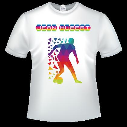 T-shirt footballeur multicolor avec texte personnalisable