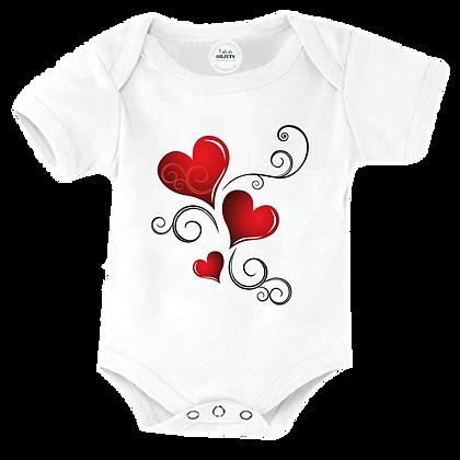Body bebe imprimé image Cœur arabesques
