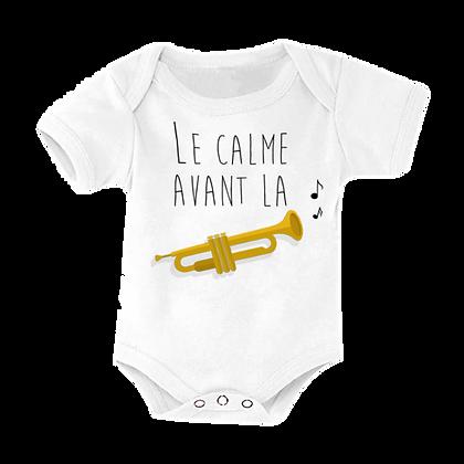 """Body bébé marqué pas cher : """"Le calme avant la ... trompette"""""""