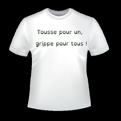 """Textiles aux choix marqués """"Tous pour un, un pour tous"""" à partir de 9,99€, imprimés avec des encres éco-solvants à Bordeaux"""