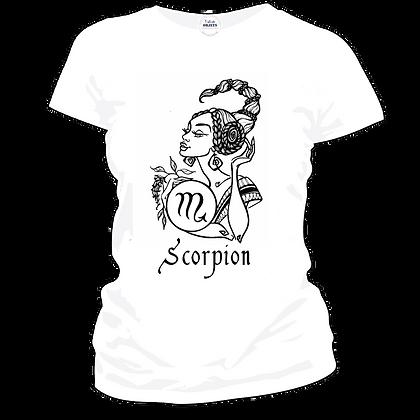 """Tshirt marqué pas cher : """"Scorpion signe astrologique femme"""""""