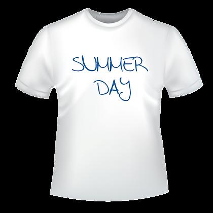 """Textiles aux choix marqués """"Summer day"""" à partir de 9,99€, t-shirts, polos, chemise, avec des encres éco-solvants à Bordeaux"""