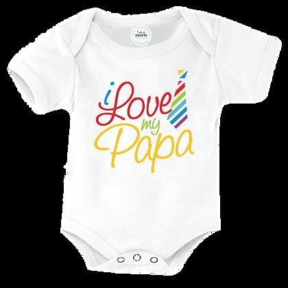 """Body bébé imprimé : """"I love my papa"""" Vetement marqué pour bébé, enfant et adulte"""