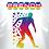 Tshirt footballeur multicolor avec texte personnalisable