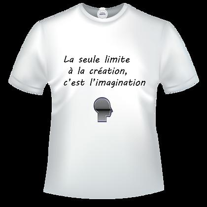 La seule limite à la création, c'est l'imagination
