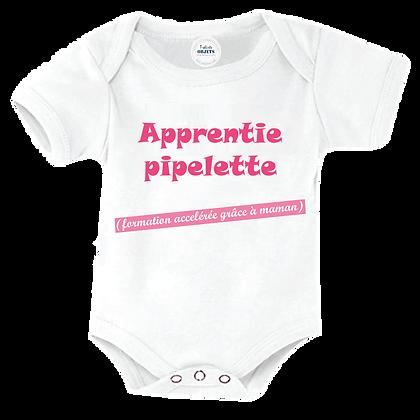 """Body bébé marqué pas cher : """"Apprentie Pipelette  ( en formation accélérée grâce à maman )"""""""
