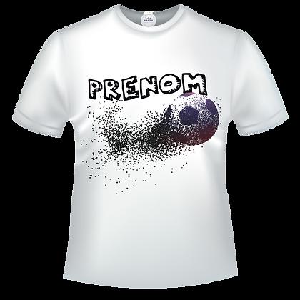 T-shirt ballon de foot à personnaliser avec un prénom, une ville, du texte