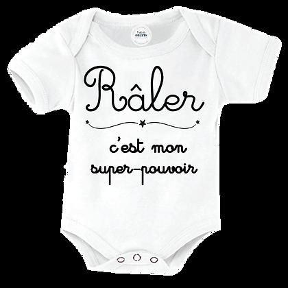 """Body bébé imprimé : """"Râler, c'est mon super pouvoir"""" pas cher les vetements imprimés"""