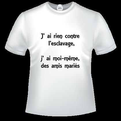 texte humuristique sur t-shirt