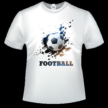 Tee shirt personnalisable avec un prénom et image d'un ballon de foot