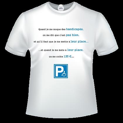 tshirt marque blague handicapes