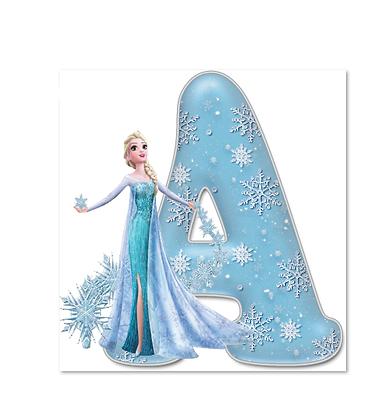 """Vêtement enfant et bébé imprimé alphabet prénom : """"La Reine des neiges V3"""""""