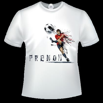 Tee shirt à personnaliser avec prénom et image d'un footballeur