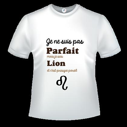 Textile Je ne suis pas parfait(e) mais je suis lion c'est presque pareil