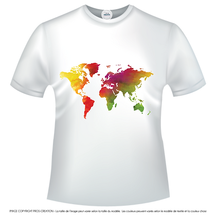 Map monde carte multicolores