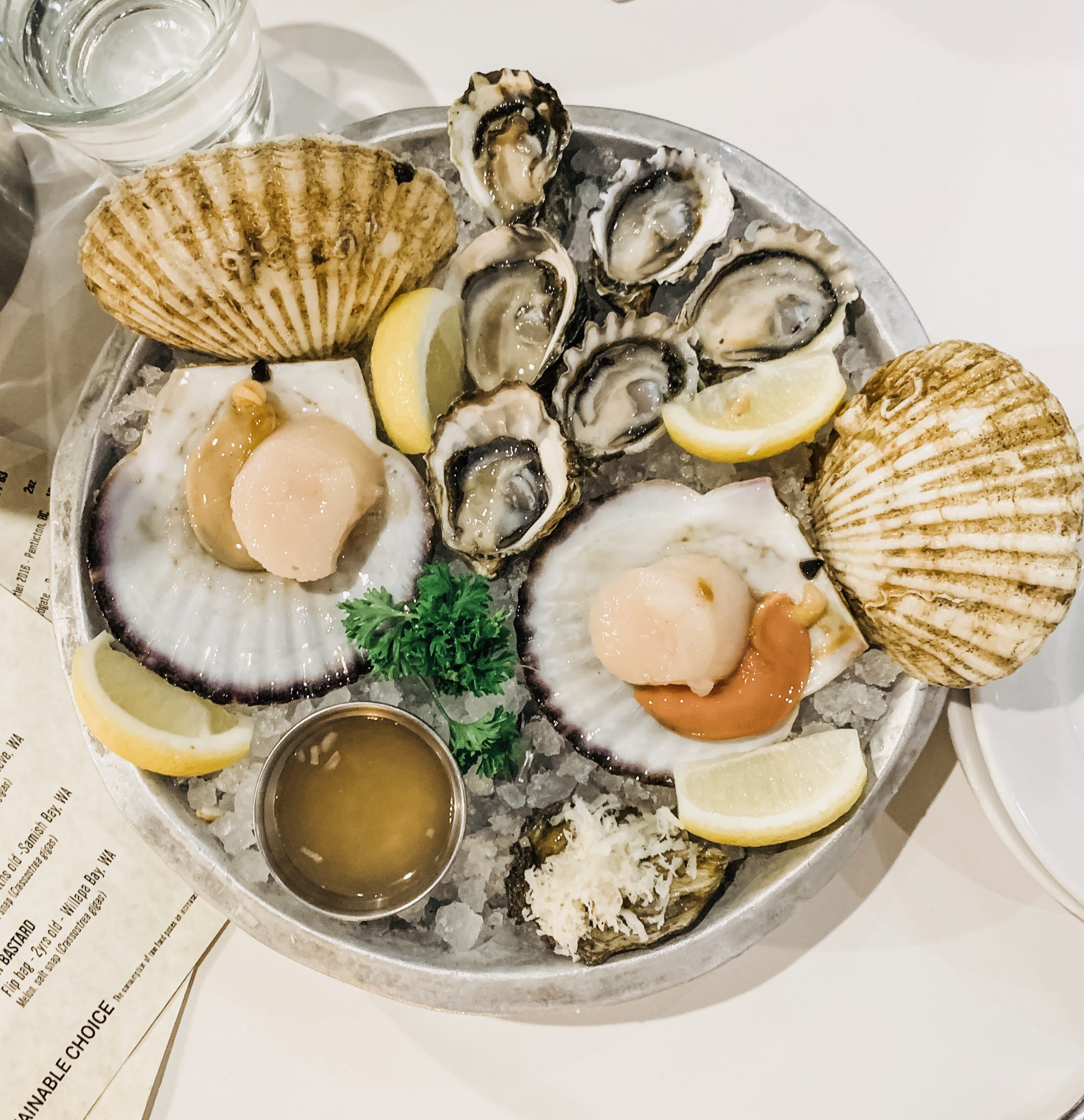 Fresh Oysters & Scallops