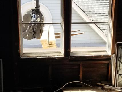 Interior shot of material load-in