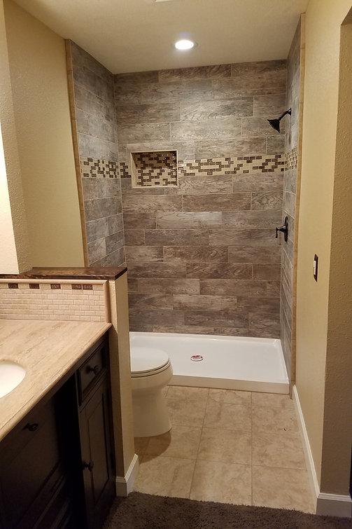 Tile shower, mortar flated walls, bathroom remodel, kitchen remodel, new shower pan,