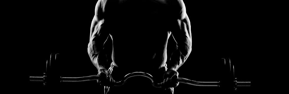 Giovane uomo muscolare