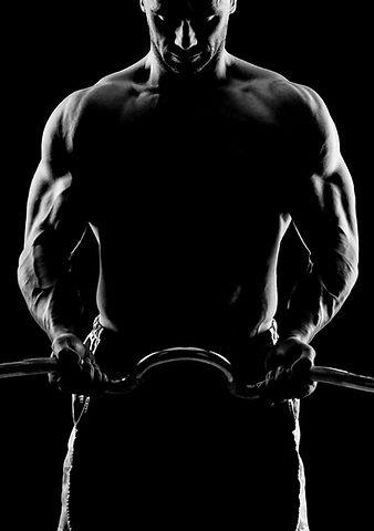 Man weight lifting training