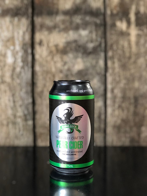 Flying Brick Cider Co. Pear Cider Cans 375mL