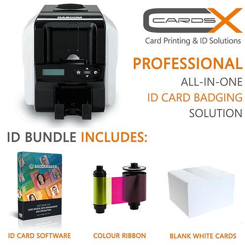 Professional ID Card Printing Bundle /Dascom DC-3300